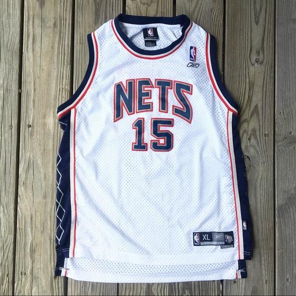 2e1e78a57e5 Reebok Shirts & Tops | Nj Nets Vince Carter No 15 Swingman Jersey ...